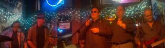 Dan Aykroyd AKA Elwood Blues Joins The Snakehandlers on stage at The Slippery No
